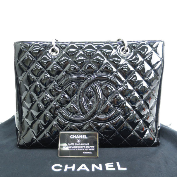 Chanel Enamel Caviar Grand Shopper Tote GST