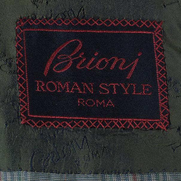 Brioni Green Plaid Blazer EU48