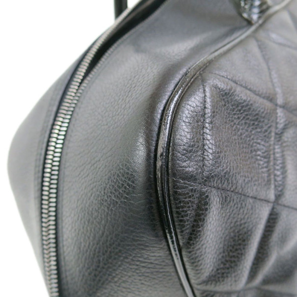 Chanel Black Enamel Boston Bag