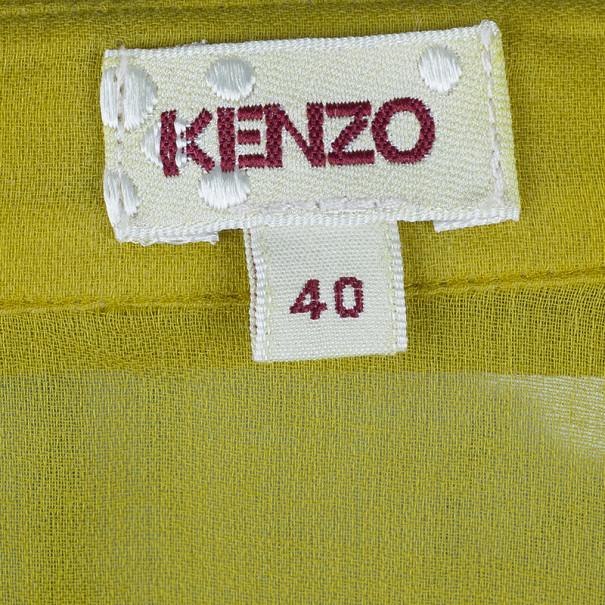 Kenzo Yellow Cotton Blend Shirt M