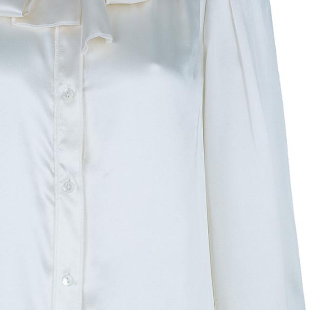 Dolce and Gabbana Ivory Satin Shirt M