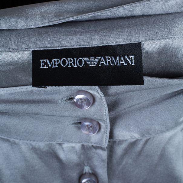 Emporio Armani Grey Silk Shirt L