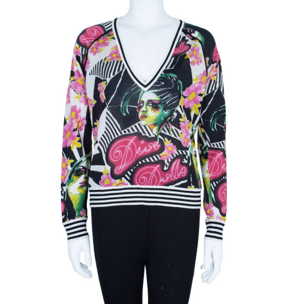 Dior Floral Knit Sweater M
