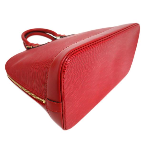 Louis Vuitton Rouge Castillian Epi Leather Alma PM