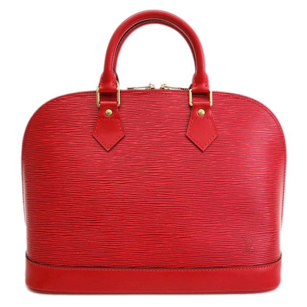 Louis Vuitton Rouge Castillian Epi Leather Alma PM