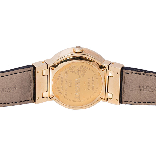 Versace White 18K Yellow Gold BLA00 Women's Wristwatch 36MM