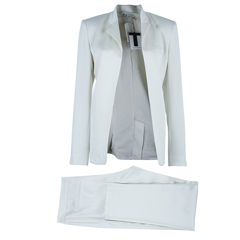 T By Alexander Wang Off-White Tailored Suit M/L