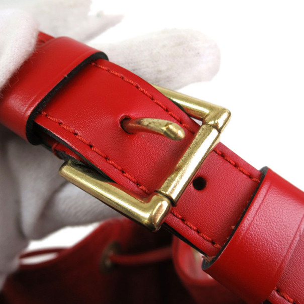 Louis Vuitton Rouge Castilian Epi Leather Petit Noe