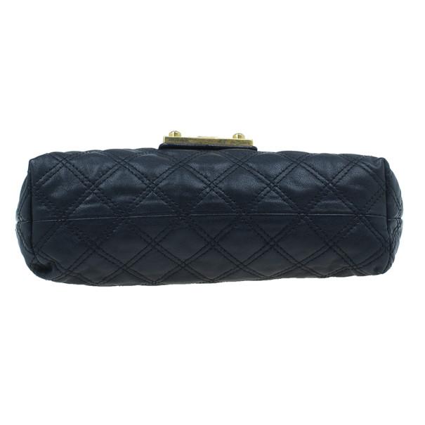 Marc Jacobs Black Leather Baroque Shoulder Bag