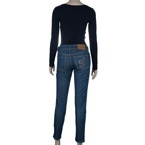 Gucci Dark Wash Relaxed Skinny Jeans S