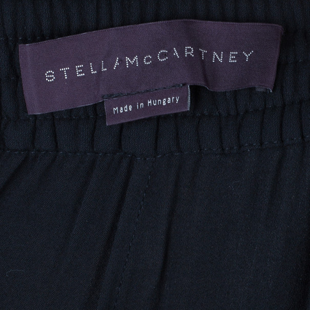 Stella McCartney Black Tapered Casual Trousers S