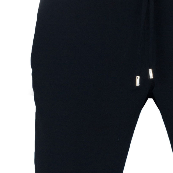 Gucci Black Tapered Drawstring Trousers S