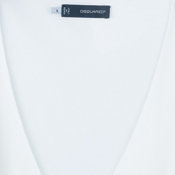 Dsquared2 White V-Neck Top S