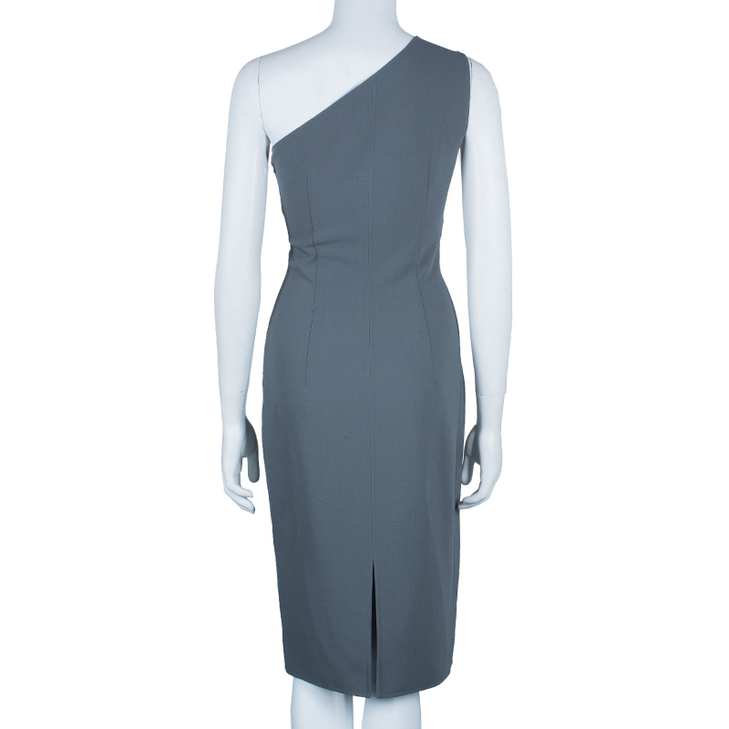 Michael Kors Grey One Shoulder Dress S