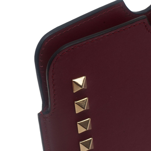 Valentino Red Leather Rockstud iPad Case