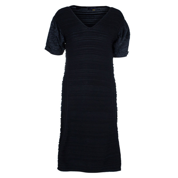 Fendi Textured Body-Con Dress L