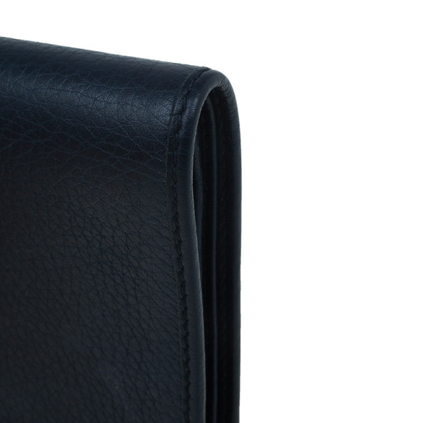 Gucci Blue Leather Bi-Fold Mens Wallet