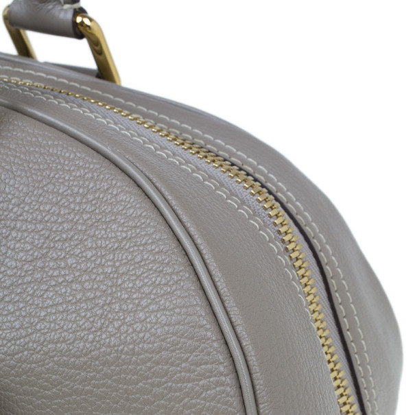 Louis Vuitton Grey Leather Limited Edition Suhali Le Superbe Satchel