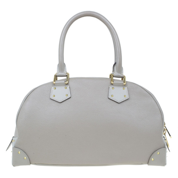 Louis Vuitton Grey Leather Limited Edition Suhali Le Superbe Satchel