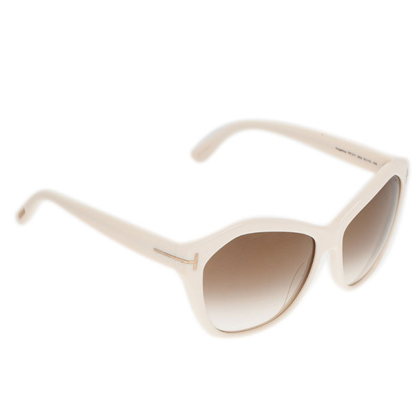 Tom Ford Ivory Oversized Angelina Sunglasses