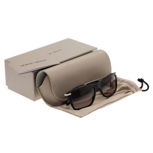 Giorgio Armani Black AR8019 Rectangle Sunglasses