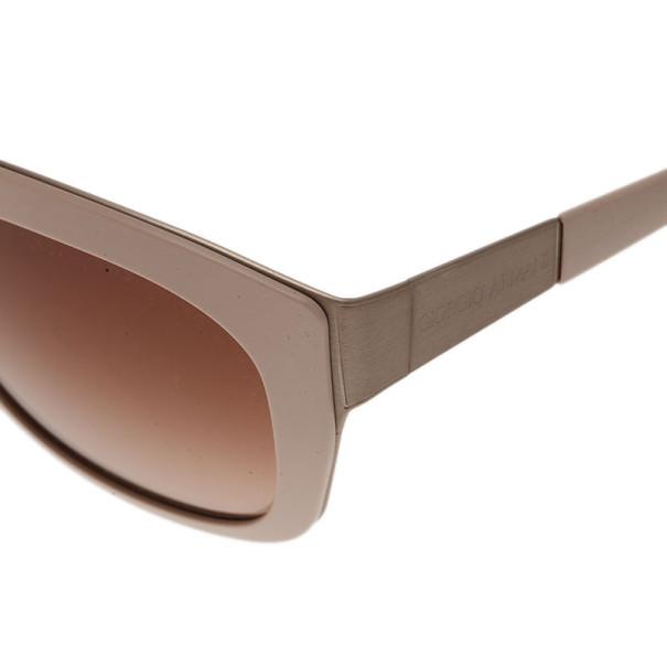 Giorgio Armani Cream Square Sunglasses