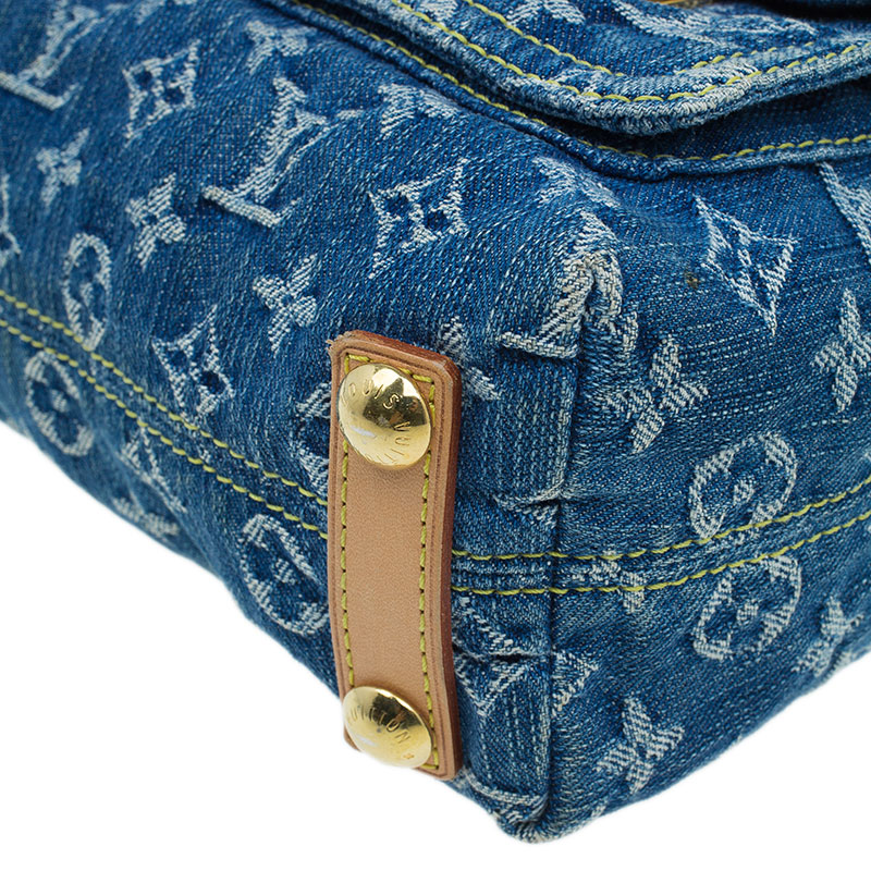 Louis Vuitton Blue Monogram Denim Baggy Hobo PM
