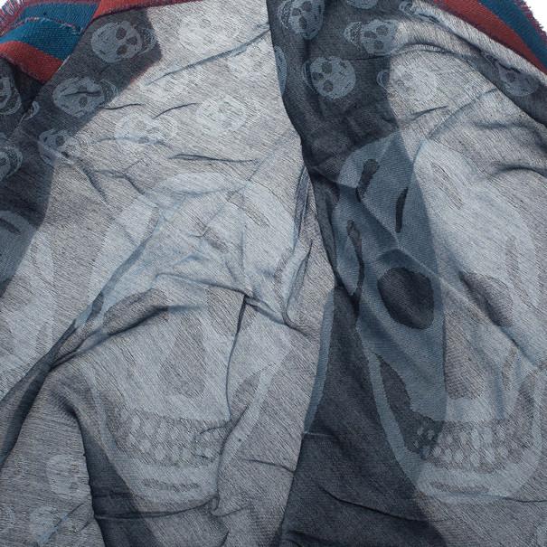 Alexander McQueen Unisex Modal Cashmere Skull Kefia