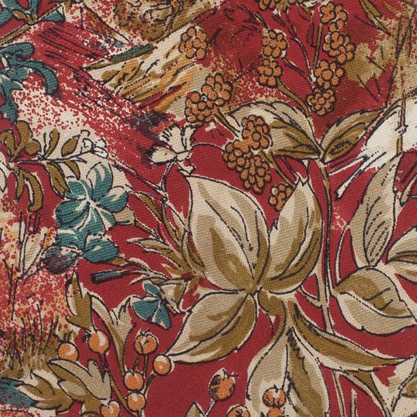 Ermenegildo Zegna Red Floral Print Tie