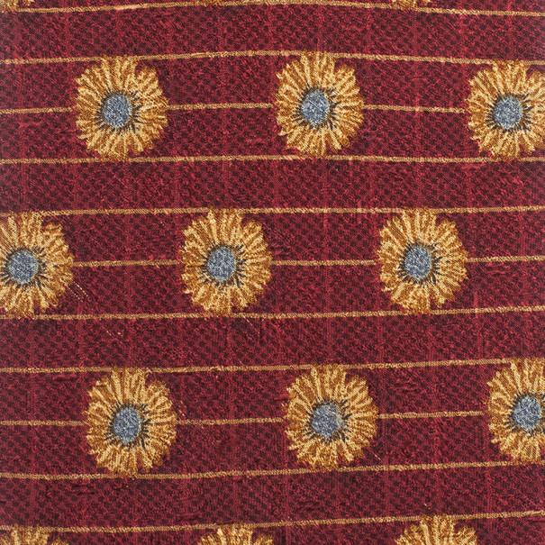 Ermenegildo Zegna Red Flower Print Silk Tie