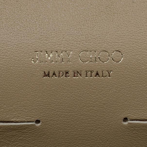Jimmy Choo Nude Patent Leather Riane Clutch