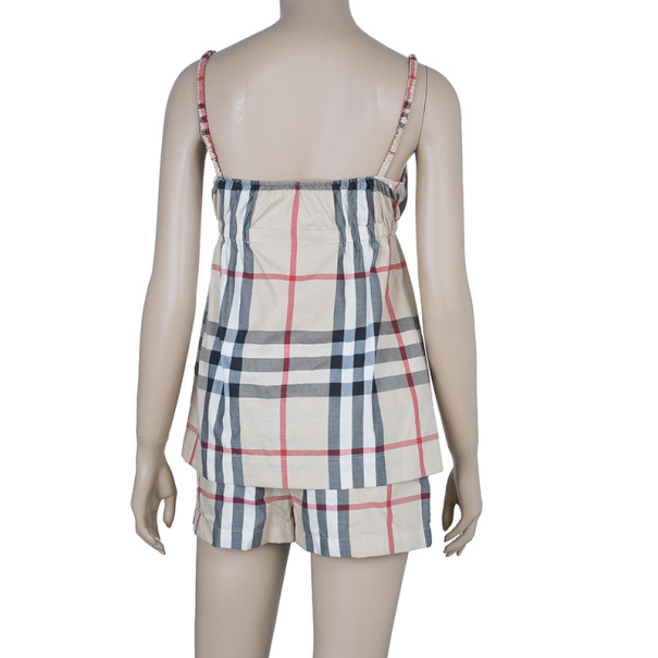 Burberry Novacheck Top And Shorts Set S