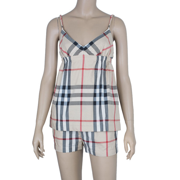 Burberry Novacheck Top And Shorts Set S