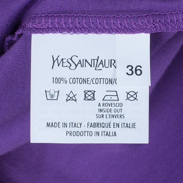 Saint Laurent Paris Purple Logo T-Shirt XS