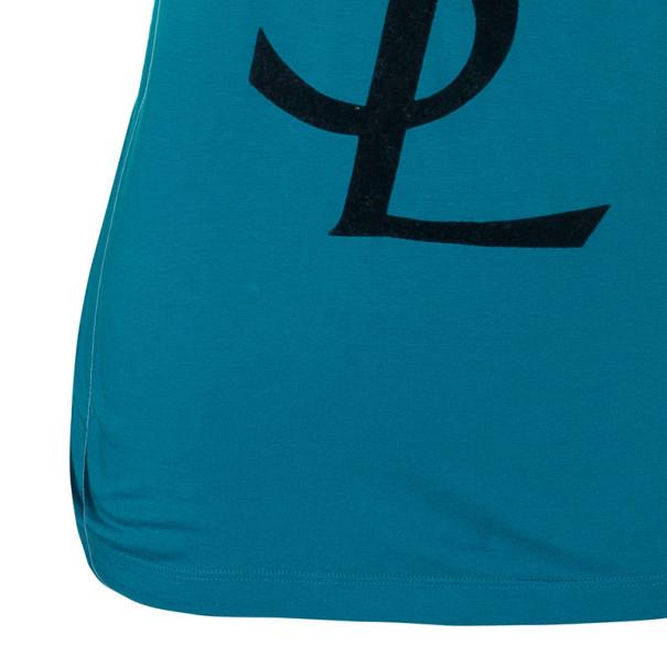 Saint Laurent Paris Blue Logo T-Shirt S