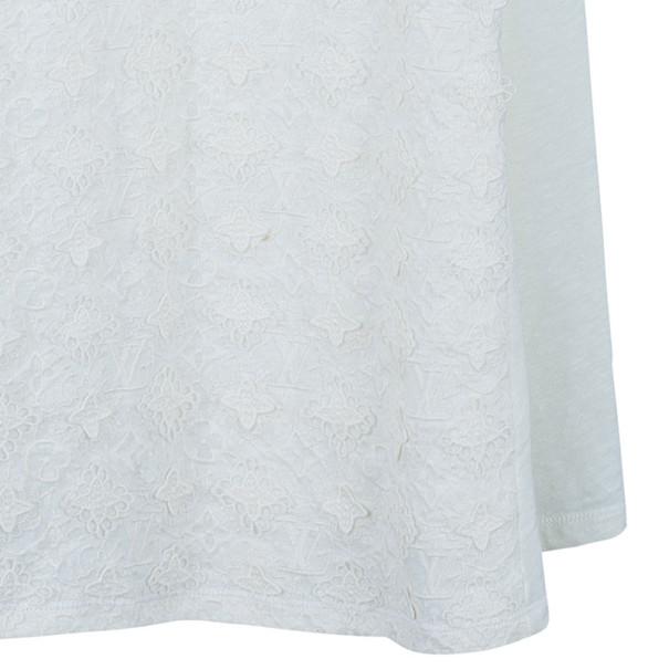 Louis Vuitton Monogram Crochet Linen Sleeveless Dress M