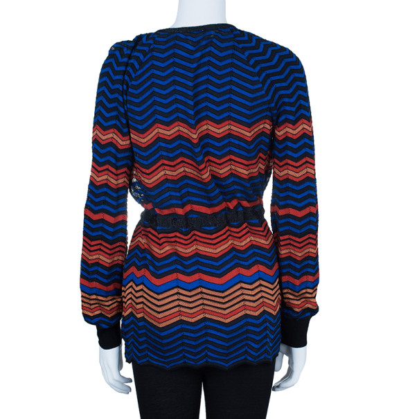 M Missoni Multicolor Light Knit Cardigan M