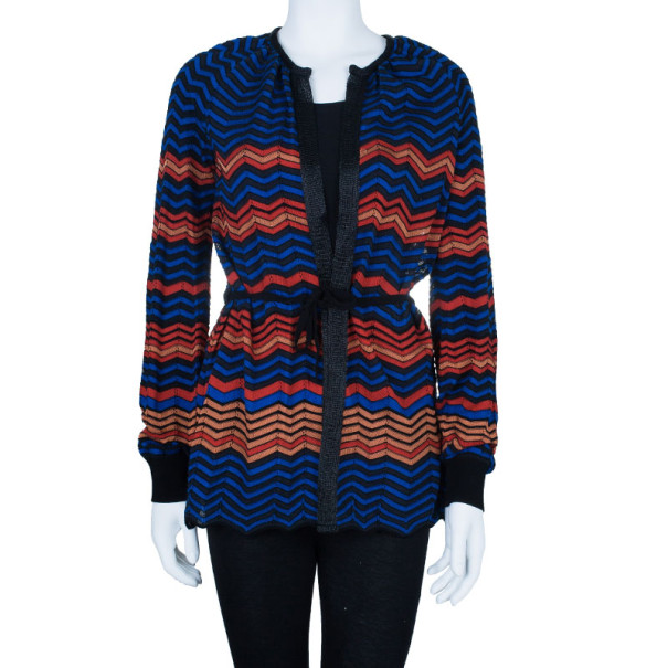 M Missoni Multicolor Light Knit Cardigan M