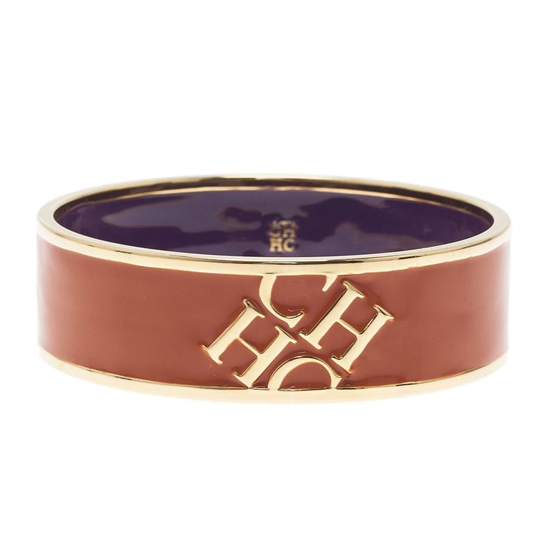 CH Carolina Herrera Orange Bangle Bracelet