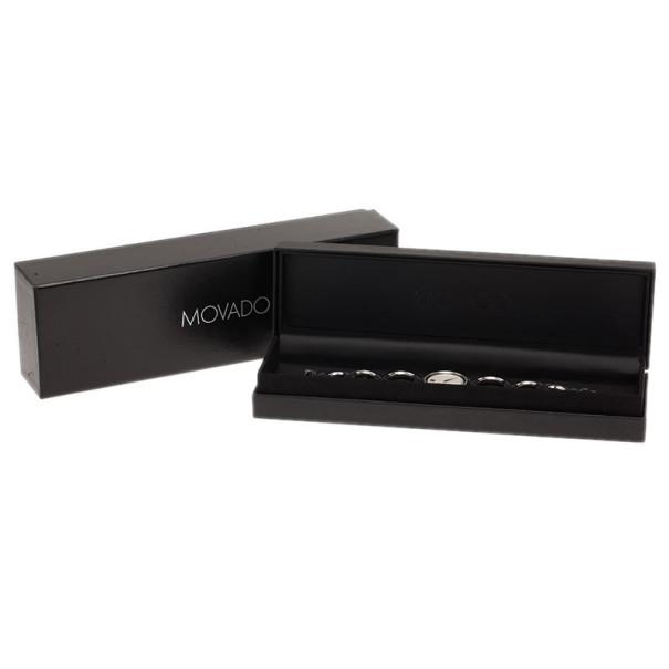 Movado White Stainless Steel Bracelet Women's Wristwatch 35MM