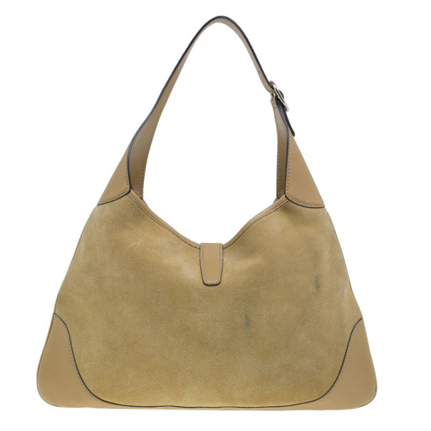 Gucci Camel Suede Studded Large 'Bouvier' Hobo