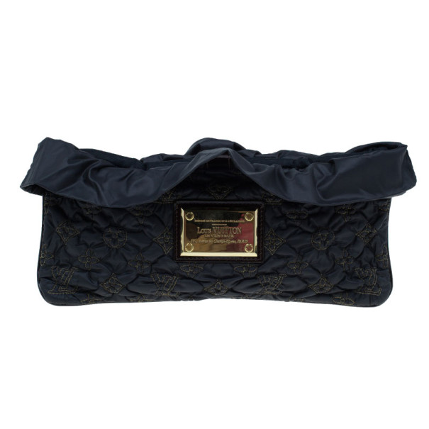 Louis Vuitton Black Monogram Nylon Devi Pochette MM