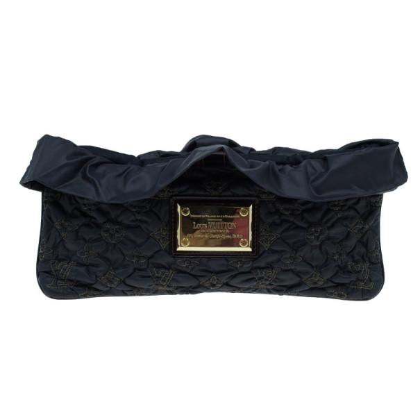 Louis Vuitton Black Monogram Nylon Devi Pochette MM