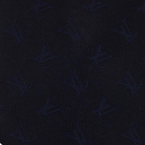 Louis Vuitton Navy Blue Initials Tie