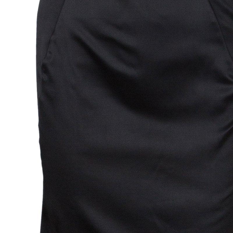 Just Cavalli Black Satin Corset Dress M