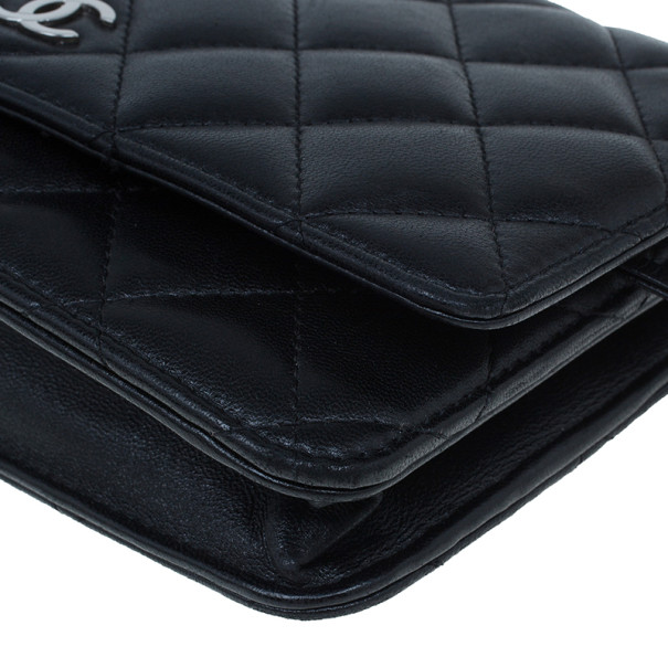 Chanel Black Lambskin Classic Quilted WOC