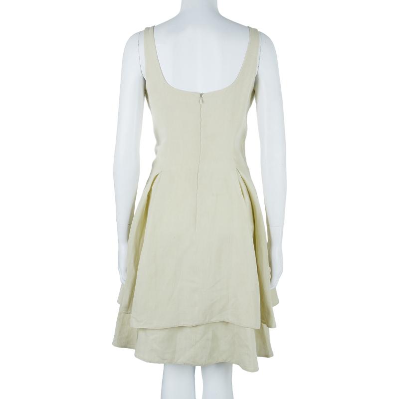 Giorgio Armani Off-white Flare Dress M