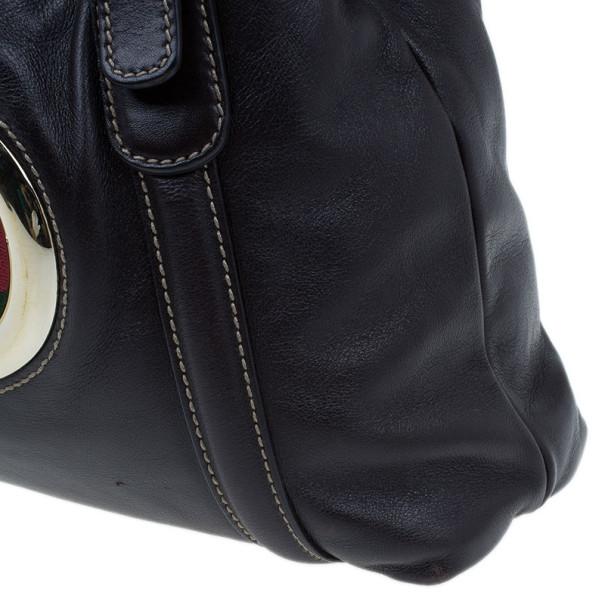 Gucci Brown Leather Britt Medium Tote bag