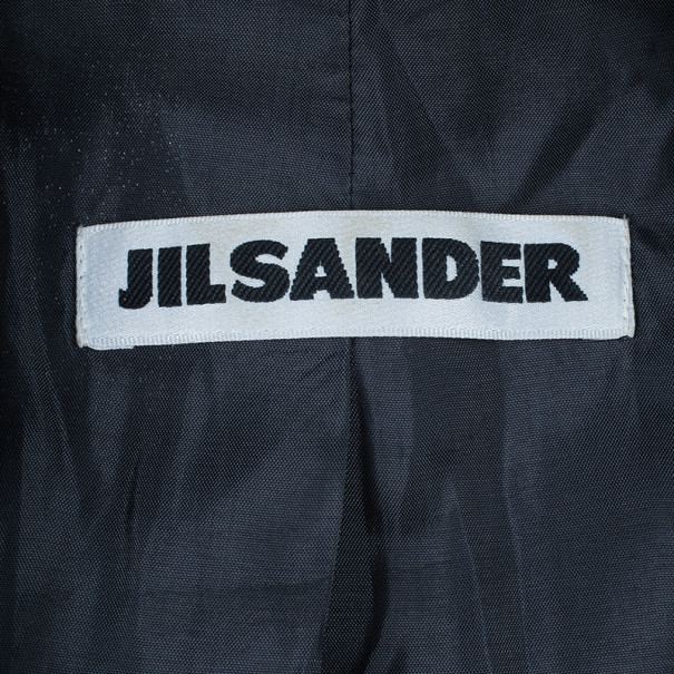 Jil Sander Charcoal Wool Skirt Suit S