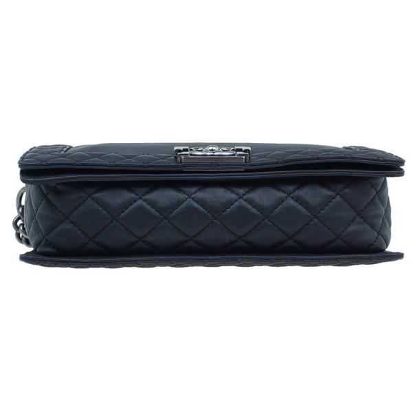 Chanel Black Calfskin Medium Boy Reverso Bag